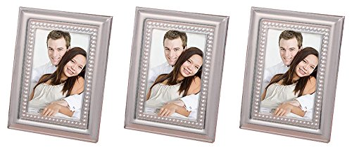 FashionCraft. Set of 3 Matte Silver Metal Place Card/Photo Frames Bundled by Maven Gifts