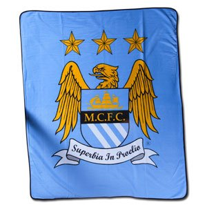 Manchester City FC Authentic EPL Fleece Blanket -