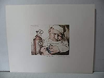 "Art print Charles Bragg artistic Signed Color Lithograph ""THE GAS MAN"" limited E."