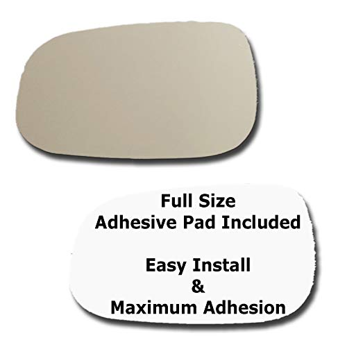 (Mirror Glass + Full Size Adhesive Pad for 2007-2011 Volvo S80 Driver Side Replacement - 2 Options Offered (2007 2008 2009 2010 2011))