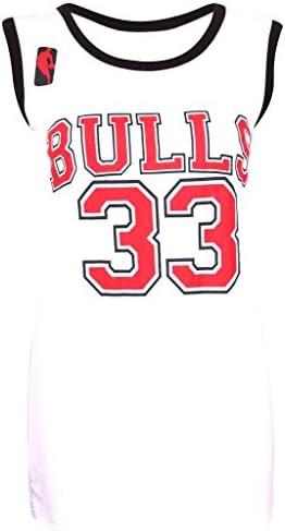 Camiseta de baloncesto para mujer, de los Chicago Bulls de la NBA, 33, como las famosas de Estados Unidos: Amazon.es: Ropa y accesorios