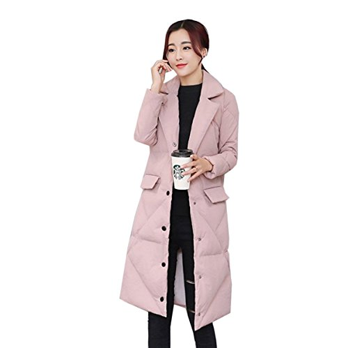 Outwear Women Down Warmth Coat D Section Eiderdown Down Winter nihiug Jacket Coat Loose Padded Lady Long Sx5wnqP