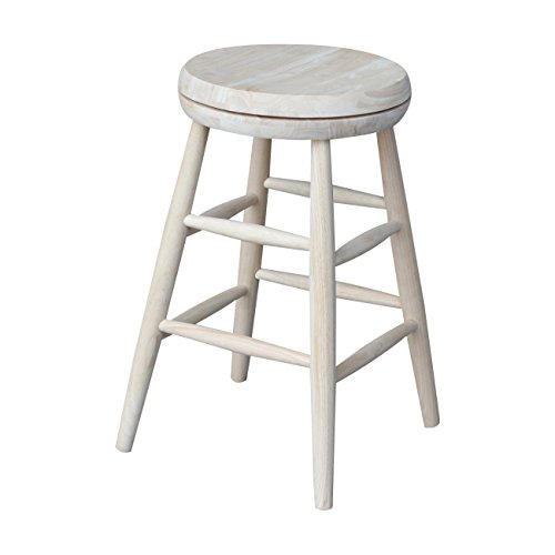 International Concepts 1S-824SW Swivel Stool Barstool, 24 inch, Unfinished ()