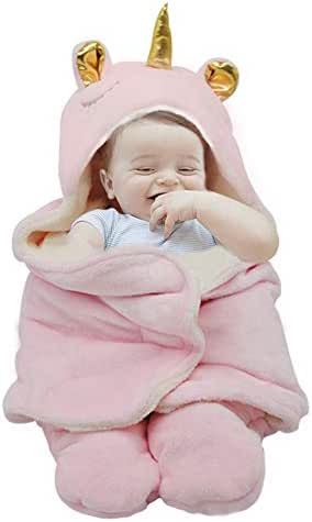 Newborn Baby Swaddle Blanket,Aumicu Soft Plush Animal Baby Girl Clothes,Sleeping Sack,Perfect Baby Shower Gift,Gift Registry for Baby Girls of 0-6 Months-Pink