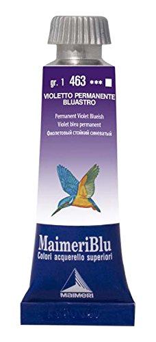 MaimeriBlu Artist Watercolor Paints, Permanent Violet Bluish, 15ml Tubes, 1604463
