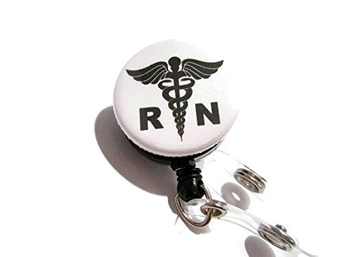 Badge Nurse (ATLanyards RN Badge Reel, Registered Nurse Id Badge Holder, Nurse Lanyard, White 301)