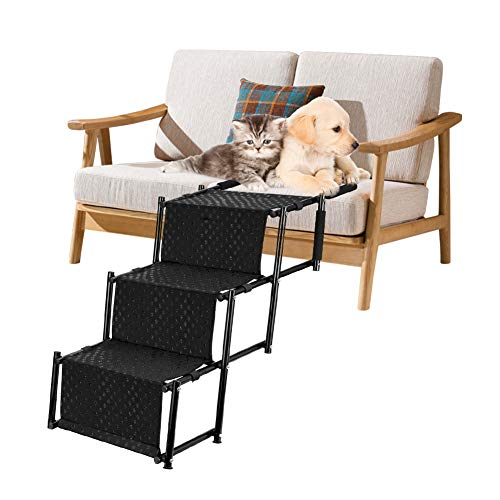 Pet Dog Car Step Stairs, Accordion Metal Frame...