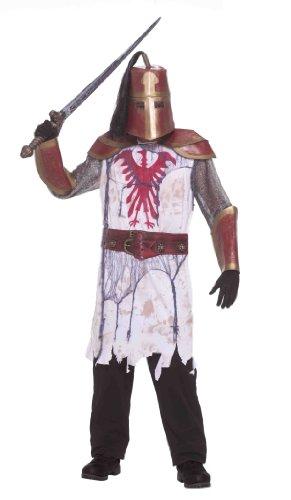Forum Novelties Men's Deluxe Zombie Warrior Costume, Multi, (Male Slave Halloween Costume)