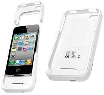 CARCASA FUNDA CON BATERIA INTEGRADA IPHONE 4 4S COLOR BLANCO EXTERNA AUXILIAR CARGADOR