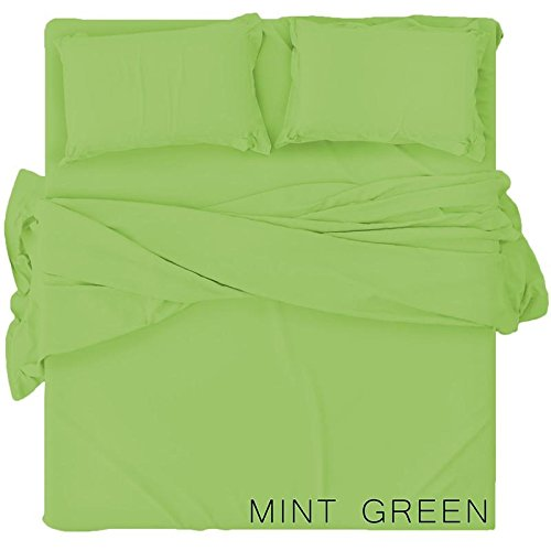 Renesmee Collections Microfiber Sleeper Sofa Solid Sheet Set Sage, Full Size (54