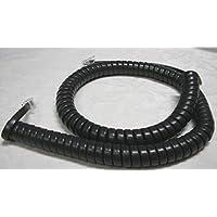 Lot of 10 Dark Charcoal Gray (Black) 12 Ft Handset Phone Cords for Panasonic T7600 T7700 Series KX T7625 T7630 T7633 T7636 T7667 T7720 T7730 T7731 T7735 T7736 by DIY-BizPhones