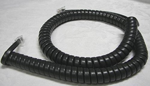 Lot of 25 Charcoal (aka Black) 12' Ft Handset Cords for Avaya 9600 IP Series Phone 9601 9608 9608G 9610 9610G 9611 9611G 9620 9620L 9621 9630 9640 9641GS 9650 9650C 9670 9641GS 9670G by DIY-BizPhones ()