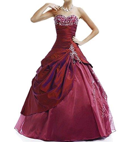 Donna burgundy Vestito Senza w d Style4 O Maniche Zqw0gA