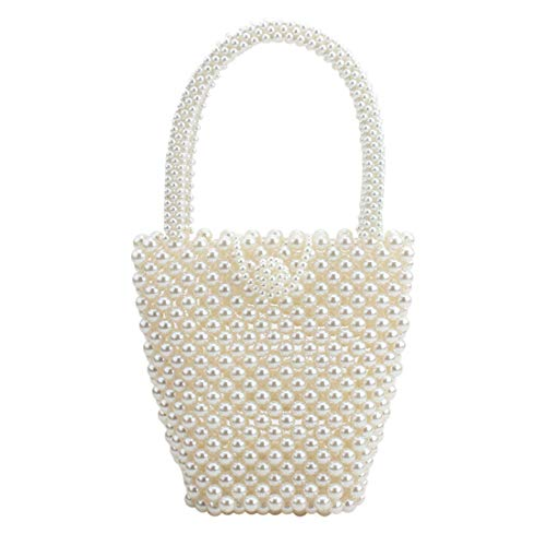 top pearl bag beaded box crystal totes bag women wedding party vintage handbag 2019 luxury brand evening bag clutch ()