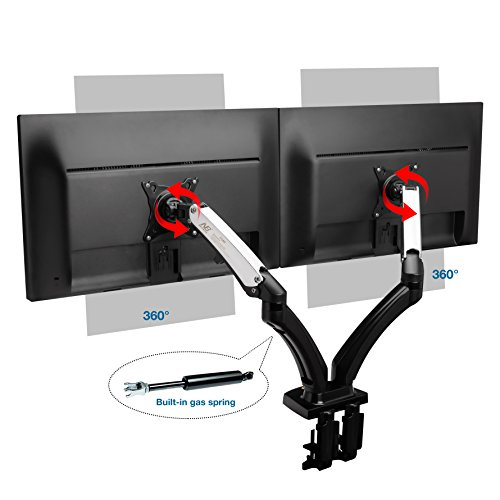 North Bayou Dual Monitor Desk Mount Stand Full Motion
