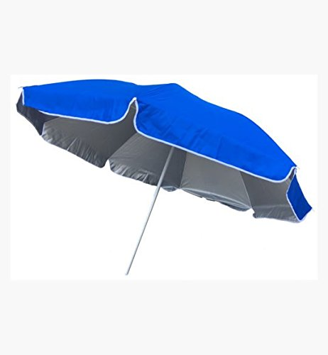 Umbrella 5 Ft. Outdoor Blue | Perfect For The Beach, Backyard & Camping | Pointed End For Easy Penetration Into Sand Or Dirt