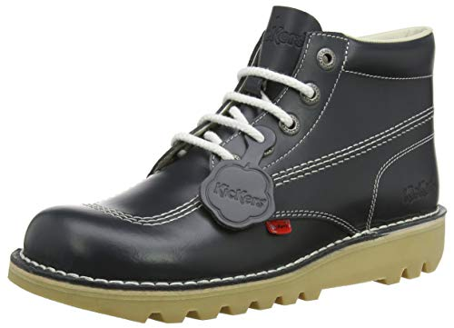Kickers Shoes Boots - Kickers Mens Kick Hi Core Navy/Natural Leather Boots-UK 8