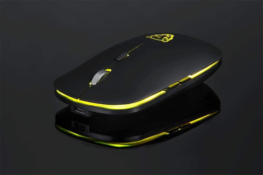 Yeefant New BG60 Wireless Bluetooth LED Mouse 6 Buttons 2400DPI Optical Game Mice Ergonomically Designed Reduce Fatigue Effectively