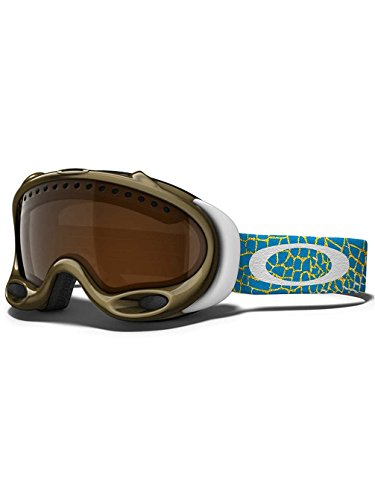 Oakley A-Frame Lindsey Vonn Signature Series Snow Goggle, Precious Metal with Black - Oakley Bag Snowboard