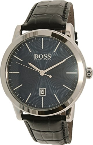 Hugo Boss Men's 1513400 Silver Leather Quartz Watch