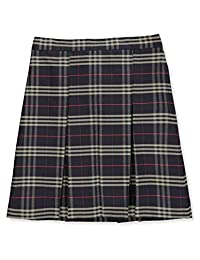 Cookie's Brand Big Girls' Pleated Skirt - Navy/Khaki/red *Plaid #1c*, 10