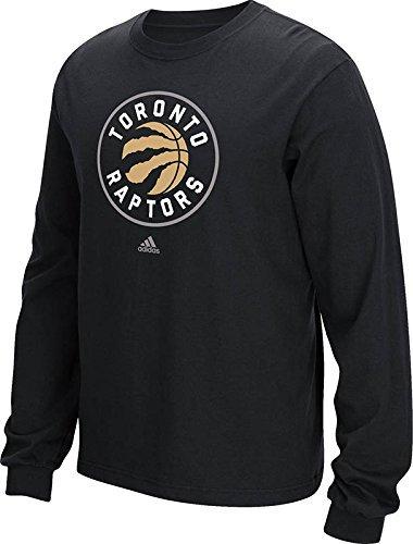 NBA Toronto Raptors Men's Full Primary Logo Long Sleeve Tee, Medium, Black