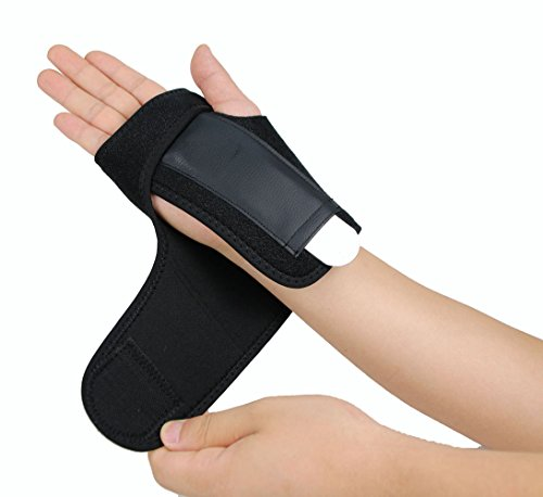 Splint Removable (Gelible Hand & Wrist Brace Support, Removable splint, Prevent Wrist Injury, Palm Band, Relieve for Carpal Tunnel Syndrome,Tendonitis and Arthritis Pain,One Size Fits Most, Black (Right))