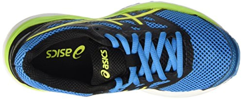 Asics Unisex Kids Gel-Cumulus 18 GS Training Running Shoes, Blue (Island Blue/Safety Yellow/Black), 1 UK 33 1/2 EU