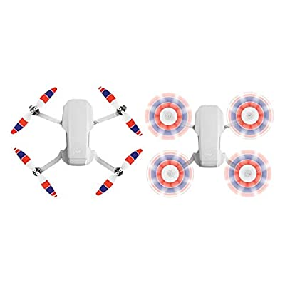 Helistar 8Pcs 4726F Propellers Foldable Low Noise Colorful Blades Compatible with DJI Mavic Mini Drone, White Red Blue: Toys & Games