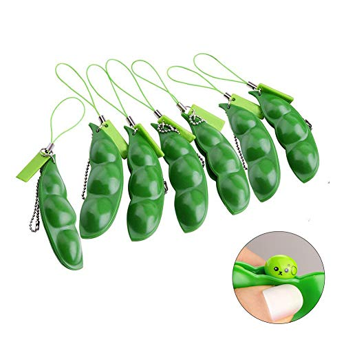 Fidget Toys,Fun Squeeze Bean Fidget Toy,Protect for Children and Adults Release Stress and Anxiety,Delicate Keychain ()