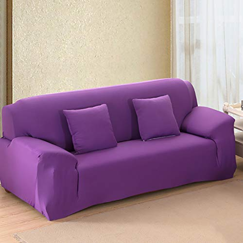 TT&CC Solid Color Sofa Slipcover,Elastic All-inclusive Combination Chaise Sofa Protector Non-slip Couch Cover 19 Colors 4 I Loveseats 145~185cm(57~73inch) from TT&CC