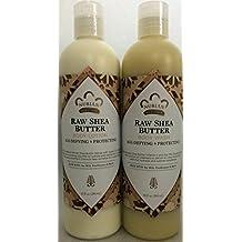 Raw Shea Butter Lotion & Body Wash Set.. by Nubian 13oz each (2 Bottles) ... iwgl