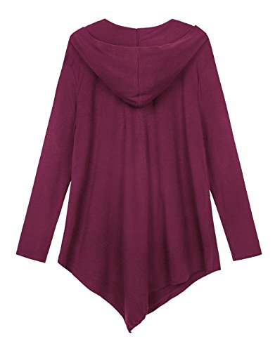 Coat per fucsia Size Goco Pluse Hoodie Style Urban Jacket donna eIH2D9WEY