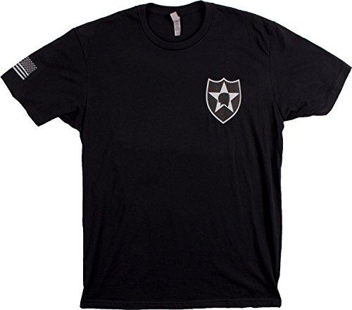 2Nd Infantry Division   Sleeve Flag   U S  Military Army Veteran 2Id Div T Shirt  Black Xl