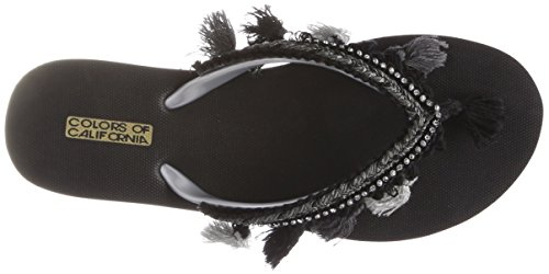 Eva California of Colours Flip Flop Tassel with Schwarz Black Accessorizes Zehentrenner Damen Rt4xq5Fxw