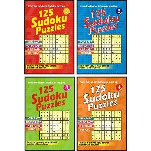 125 Sudoku Puzzles (Set Of 4 Books)