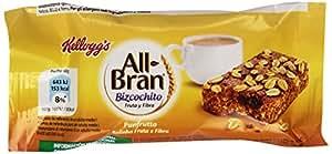 Kellogg'S - All Bran - Bizcochito de trigo y avena rico en fibra con pasas sultanas - 40 g