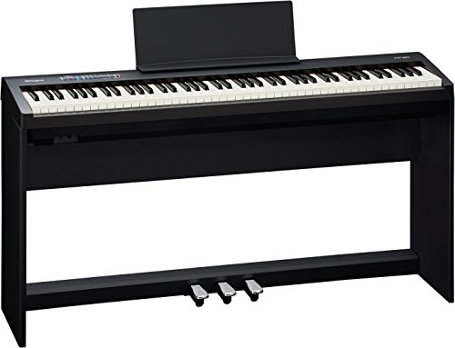 Roland Supernatural Digital Portable Piano with Stand and Pedalboard (Black) (FP-30-BKC)