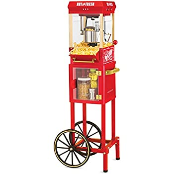 Nostalgia KPM200CART 45-Inch Tall Vintage Collection 2.5-Ounce 10-Cup Kettle Popcorn Cart
