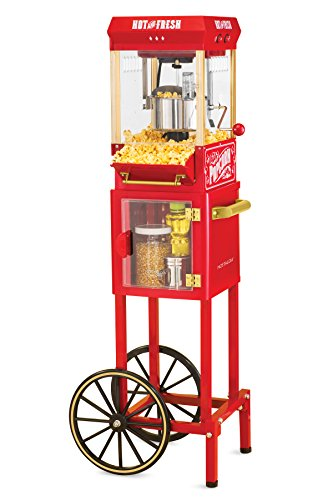 Nostalgia KPM200CART 45-Inch Tall Vintage Collection 2.5-Ounce 10-Cup Kettle Popcorn (Vintage 2 Cup)
