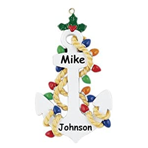 41D-r4MURfL._SS300_ 75+ Anchor Christmas Ornaments