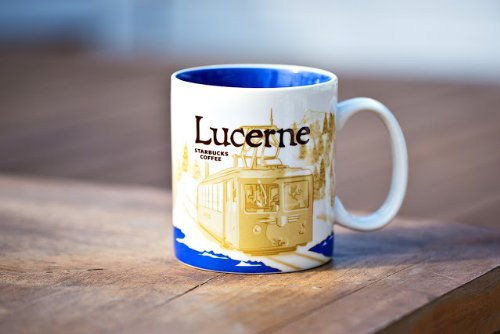 Starbucks Coffee Cup City Mug Tea Icon Series Luzern Lucerne Schweiz Switzerland by Starbucks