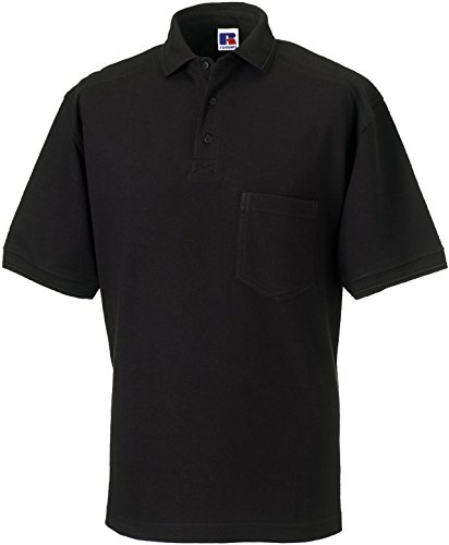 Russell Collection Strapazierfähiges Piqué Arbeits-Poloshirt R-011M-0 M,Black