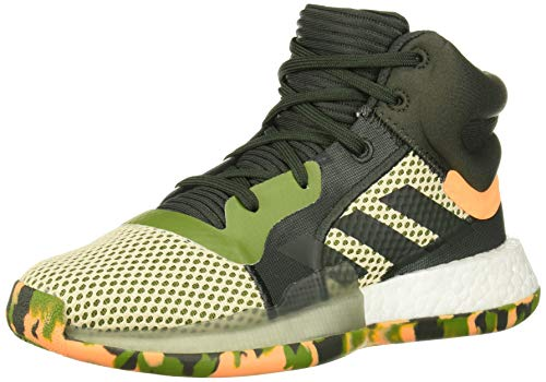 adidas Unisex Marquee Boost Basketball Shoe Legend Earth/Linen, 6 M US Big Kid