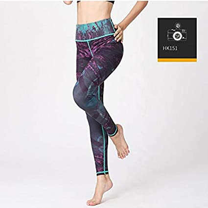 GSYJK Elastic Stretch Women Printed Yoga Pants Leggings ...