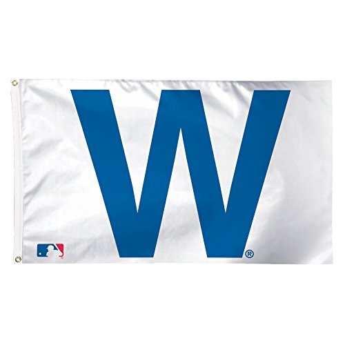 MLB Chicago Cubs W Deluxe Flag, 3 x 5', (Chicago Cubs Logo Poster)