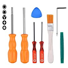 Security Screwdriver Gamebit Bit Set 3.8mm and 4.5mm for Nintendo NGC/SFC/N64+ Tri-wing and Cross Screwdriver for Nintendo GBA NDS NDSL Wii or PSP PSV NDSi 3DS 3DSLL PS4 Consoles (4pcs) (Full Tool Kit)