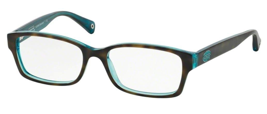 Coach Women's HC6040 Eyeglasses Dark Tortoise/Teal 50mm
