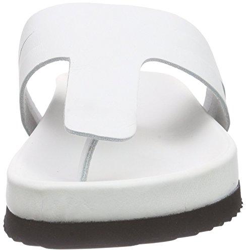 SELECTED FEMME Sffilipa Slider - Sandalias de dedo Mujer Blanco - blanco (blanco)