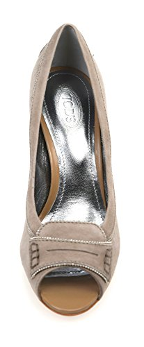 Tod's Woman Open Toe Decolte Heel Shoes Sand Suede Code XXW0ND0B750HR0C413 SABBIA - SAND clearance online cheap real tgl7MzP